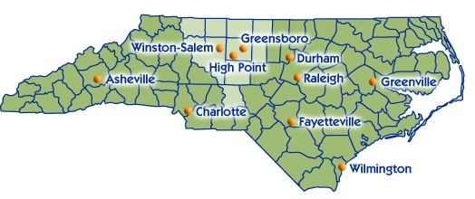 Winston Salem Nc Map About the Region | Piedmont Triad Regional Council, NC