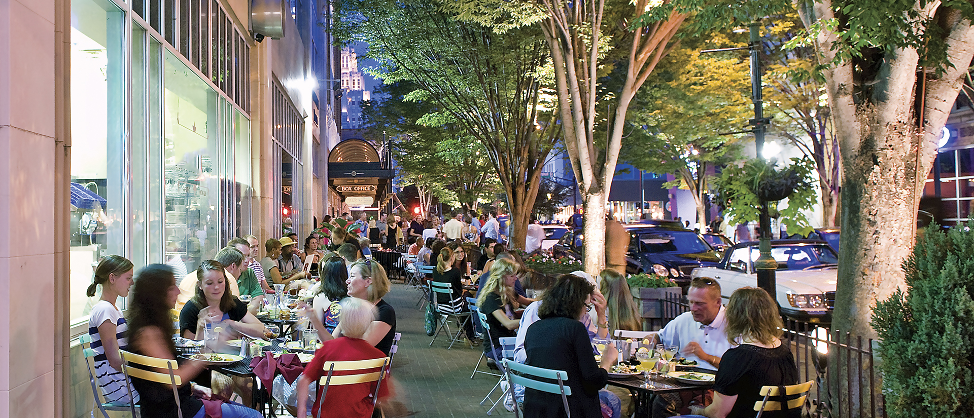 SUMMER _ downtown dining on 4th street in Winston-Salem