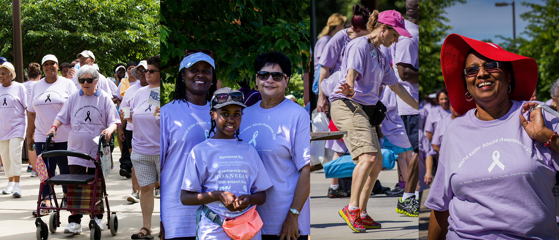 Elder Abuse Walk Collage