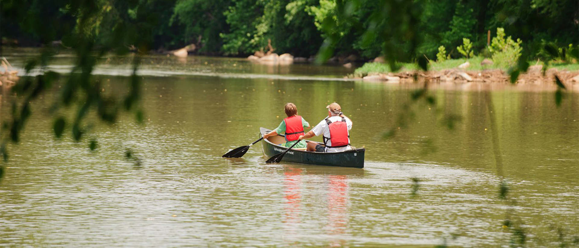 Canoeing on the Dan River in Stokes County