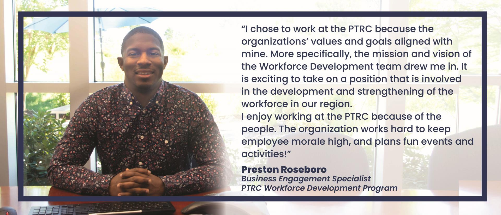 Preston Roseboro, Business Engagement Specialist